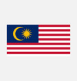 simple malaysian flag for your infographics vector image
