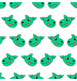 smile green dog seamless pattern textile print vector image vector image