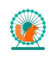 squirrel in wheel toy for animal wild beast vector image