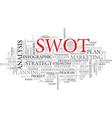 swot word cloud concept vector image