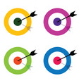 target with arrow center set vector image vector image