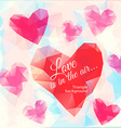 Triangle heart background vector image vector image