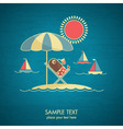 vacations card vector image vector image