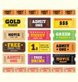 Vintage cinema tickets vector | Price: 1 Credit (USD $1)