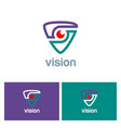 vision triangle technology logo vector image vector image