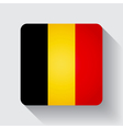 Web button with flag of Belgium vector image vector image