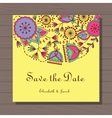Wedding invitation with poppy and dandelion on vector image
