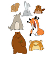 Wild cartoon animals vector image vector image