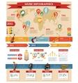 Music Infographics Set vector image