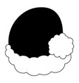 christmas hat silhouette vector image