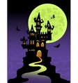 The scary castle vector image