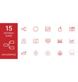 15 infographic icons vector image vector image