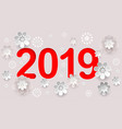 2019 new year number text in chinese calendar vector image