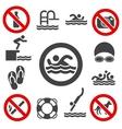 Swimming icons