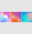 abstract colorful gradient mesh background set vector image vector image