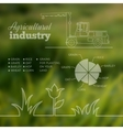 Agricultural industry infographic design vector image