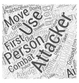Aikido Moves Word Cloud Concept vector image vector image