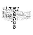 anatomy a good sitemap vector image vector image