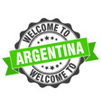 argentina round ribbon seal vector image vector image