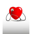 Background with a stethoscope and a heart vector image