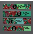banners template set vector image vector image