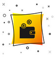 black cryptocurrency wallet icon isolated on white vector image vector image
