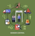 border guard concept vector image vector image