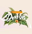 bright tropical background with jungle plants vector image vector image