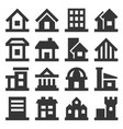 building icons set on white background vector image vector image