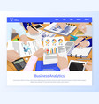 business analytics information on pages conference vector image vector image