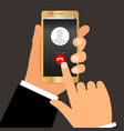 businessman hands telephone call vector image vector image