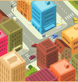 cartoon city - downtown vector image vector image