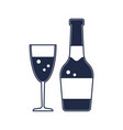champagne bottle isolated icon vector image vector image