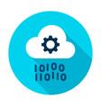 cloud computing gear binary circle icon vector image