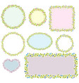 collection of eight floral frames images vector image