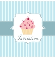 Cupcake invitation background vector | Price: 1 Credit (USD $1)