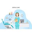 dental clinic conceptual banner flat design vector image