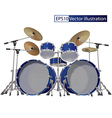 Drum Kit isolated on a white background vector image