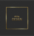 frame-empty-gold-gray vector image vector image