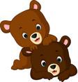 funny bear cartoon vector image vector image