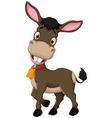 funny donkey cartoon posing vector image