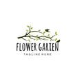 garden logo design vector image vector image