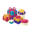 gift boxes of different shapes and colors set vector image