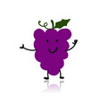 grape funny character for your design vector image vector image