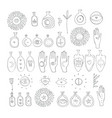 hand drawn mystic esoteric symbols set spiritual vector image