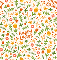 Happy Easter flower pattern vector image vector image