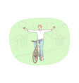 healthy active lifestyle sport leisure hobby vector image vector image