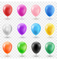 helium balloon set in different bright colors vector image