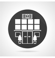 Hospital black round icon vector image