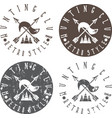 hunting club labels set with arrows and fox tail vector image vector image